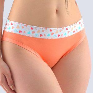 Oranžové vzorované bavlnené nohavičky 16146P