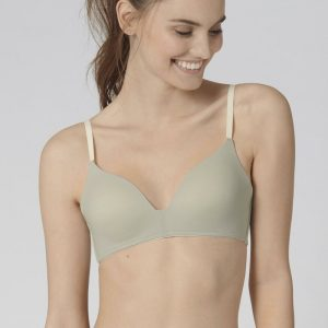 Zeleno-sivá jemne vystužená podprsenka Wow Embrace P